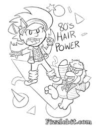 Birthday Themed Coloring Pages Fizzlebit 80s Coloring Pages