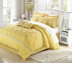 Yellow Bedding Set Bedroom Comfortable White And Yellow Bedding Set With White Area