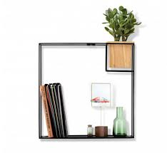 Wall Shelves Amazon by Amazon Com Umbra Cubist Floating Shelf With Built In Succulent