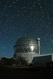 polaris star het with star trails mcdonald observatory