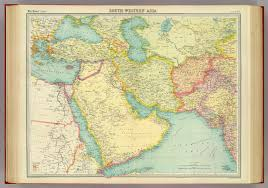 Map Of West Asia by South Western Asia David Rumsey Historical Map Collection