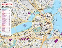 boston tourist map order printed boston and cambridge walking driving