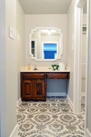 Diy Bathroom Floor Ideas - diy bathroom ideas stencil your floor apartment therapy