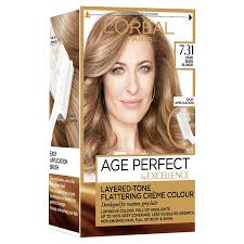 how to get medium beige blonde hair l oreal excellence age perfect 7 31 dark caramel blonde hair dye