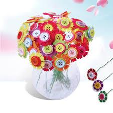 button flowers 40pc diy button bouquet handmade 3d puzzletoys button flower