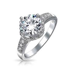 crown wedding rings 925 sterling silver 3ct cz crown engagement ring