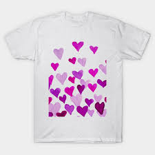 valentines day t shirts s day watercolor hearts purple valentines day t