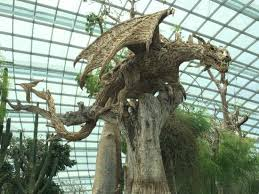 wood sculpture singapore an interesting wood carving in the flower dome picture of