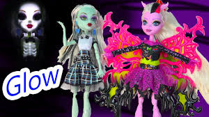 monster high halloween dolls monster high light up spark glowing skeleton frankie stein doll