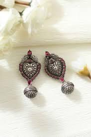 dangler earring pretty attractive silver antique dangler earring