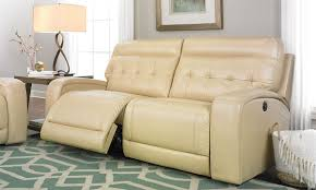 Powered Reclining Sofa by Tufted Dual Power Reclining Sofa In Cream The Dump America U0027s