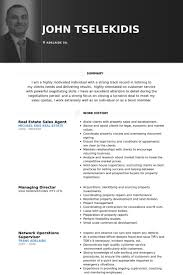 Real Estate Resume Sample by Sales Agent Resume Samples Visualcv Resume Samples Database