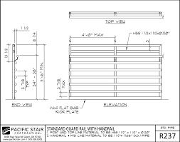 Tubular Handrail Standards Pipe Rail Pacific Stair Corporation