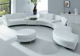 Contemporary White Leather Sectional Sofa by Modern Sectional Sofas Divani Casa Polaris Mini Gray Bonded
