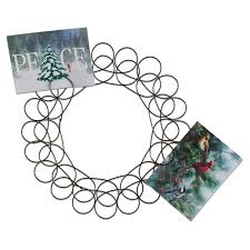 tag metal spiral wreath greeting card holder