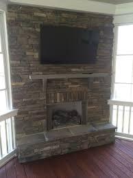 stacked stone fireplace on 3 season porch salt lake porchideas stacked stone fireplace on 3 season porch salt lake porchideas screenedporch outdoorfireplace