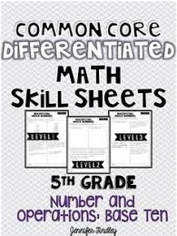 division whole number estimation math center activity numbers