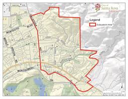 Pg E Power Outage Map Santa Rosa Fire Emergency Information Update 10 14 17 North
