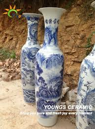 Hand Painted Chinese Vase 2 Meter High Chinese Handpainted Porcelain Large Decorative Floor