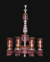 ruby chandelier a large victorian ruby and white overlay glass eight light