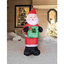 yard decorations100 year calendar time 7 countdown calendar santa christmas