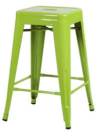 Bar Stool Sets Of 3 Green Glossy Metal Tolix Style Chair Counter Stool Set Of 2 On