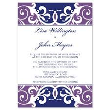 Purple Wedding Invitations Purple U0026 Blue Wedding Invitation Templates Jordana Plum Do It