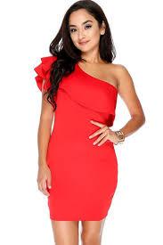 one shoulder dress women free shipping