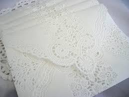 doily lace envelopes wedding invitation envelope handmade off