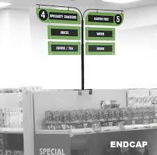 aisle markers gondola end cap display signs retail aisle signage