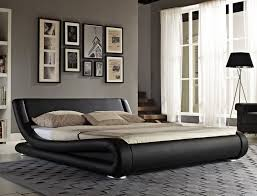 modern queen bed frame design ideas with combination black and