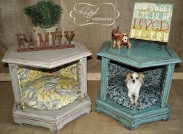 diy end table dog beds before and after or create a vignette