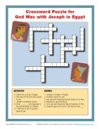 god was with joseph crossword puzzle bible word puzzles for