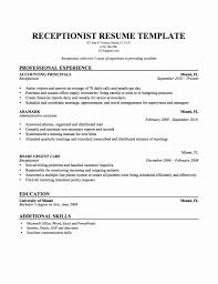receptionist resume templates 50 beautiful salon receptionist resume sle professional resume
