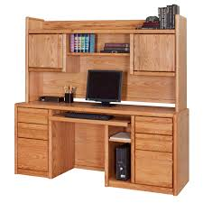Oak Computer Desk With Hutch by Martin Home Furnishings Contemporary Computer Credenza With