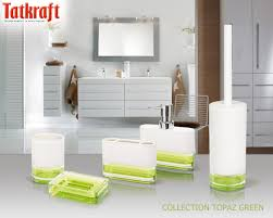 Bath Accessories Collections Collection Topaz Green From Tatkraft Acrylic Bathroom Accessories