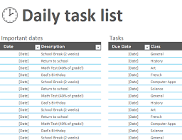 Excel Task Management Template Track My Tasks Office Templates
