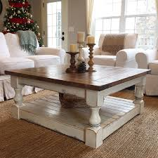White Distressed Coffee Table Antique White Harvest Coffee Table Coffee Etsy And Decorating