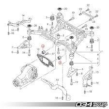 034motorsport rear differential carrier mount insert upgrade kit