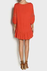 burnt orange dress casual naf dresses