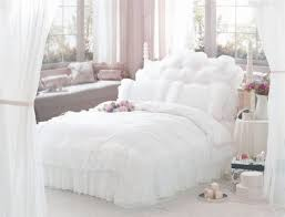 Shabby Chic Queen Sheets by Fadfay Luxury White Bedding Set Princess Lace Ruffle Bedding Set