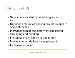 Example Server Resume by The 5s Store 5s Training Presentation