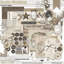 rustic wedding scrapbook rustic wedding collection biggie digital scrapbooking kit by