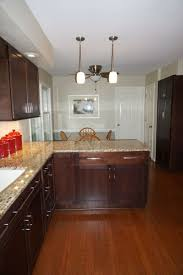 Overlay Kitchen Cabinets by Merillat Classic Cabinetry Cherry With Pecan Stain Full Overlay