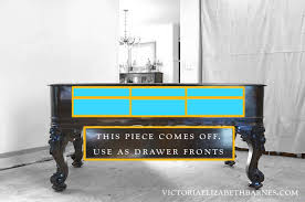 repurposed kitchen island building drawers inside the piano diy repurposed kitchen island