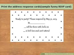 Sample Rsvp Cards How To Address Response Card Envelopes With Pictures Wikihow