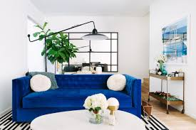 Blue Sofa In Living Room Cool Your Design With Blue Velvet Furniture Hgtv S