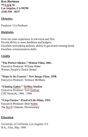 example of producer resume http resumesdesign com example of