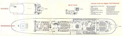 ss rotterdam v part 6 deck plans u0026 other images