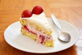 Chinese Bakery Style Birthday Cake With Strawberry Mousse Filling